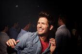 Man dancing at nightclub