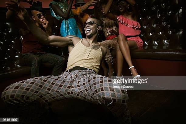Man dancing in nightclub