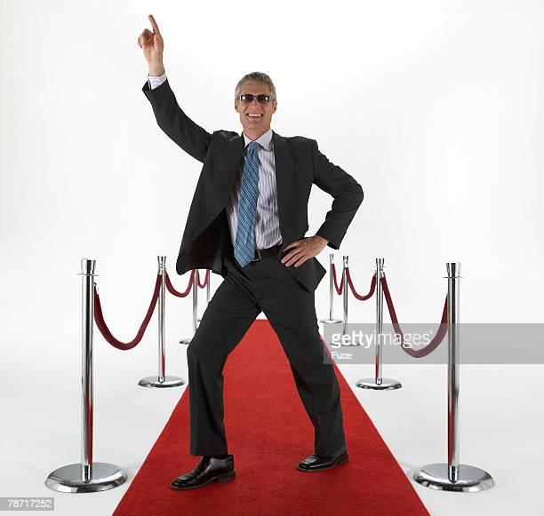 Man Dancing on Red Carpet