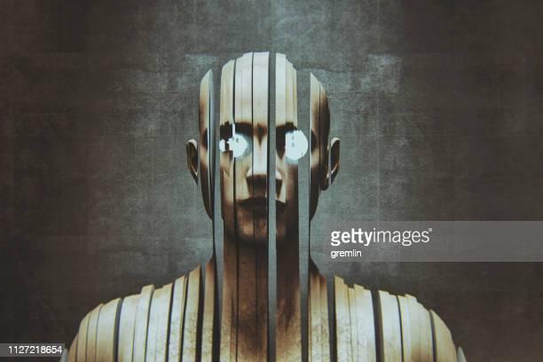 déconstruction de l'homme - personnage imaginaire photos et images de collection
