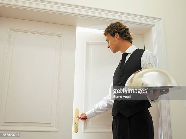 Man delivering room service