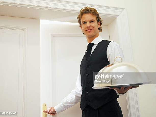 Man delivering room service