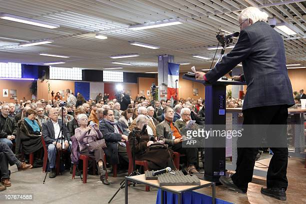 """Man delivers a speech on December 18 in Paris, during the """"Assises contre l'islamisation de l'Europe"""" organised by far-right organization French..."""