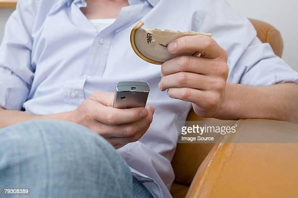 Man dialling