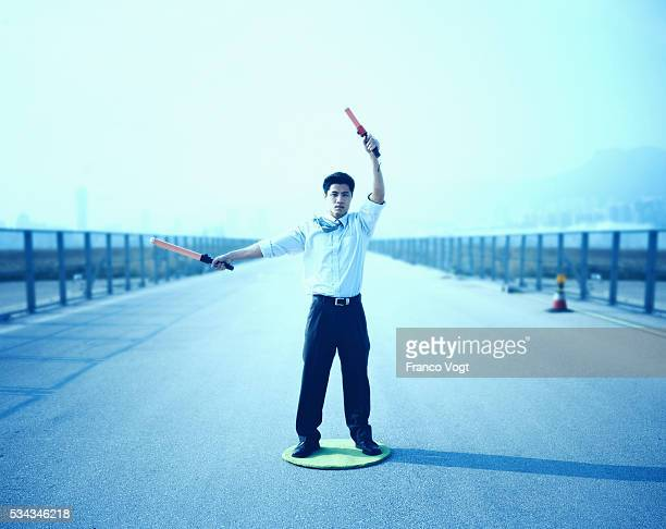 Man Directing Air Traffic