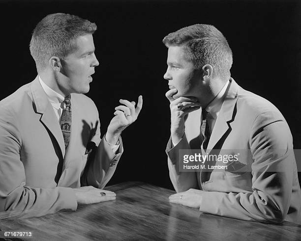 """ man discussing with each other, studio shot"" - neckwear stock pictures, royalty-free photos & images"