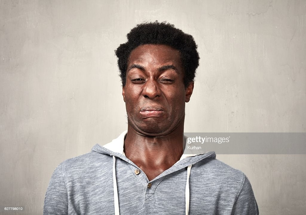 Man disgusted : Stock Photo