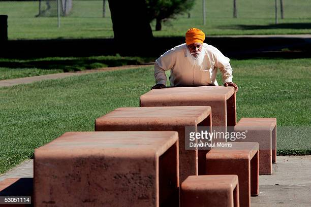 A man does morning exercises at a park on June 10 2005 in Lodi California Lodi the sleepy Northern California town has been hit with controversy...