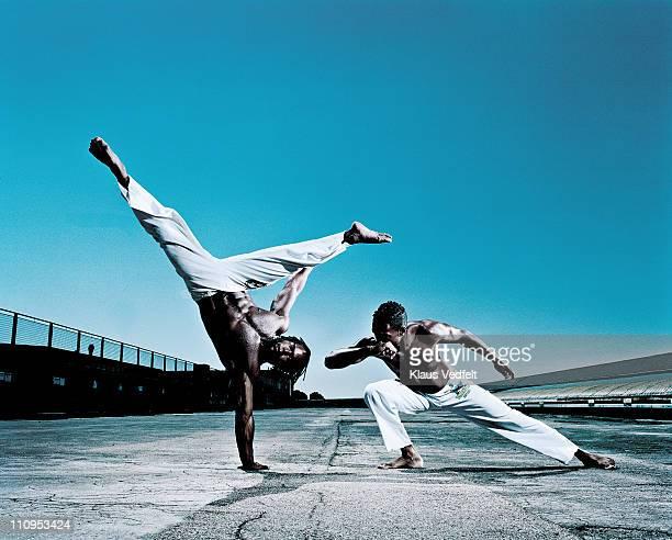 Man doing capoeira