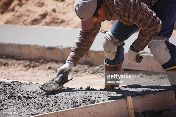 Man Doing Concrete Work