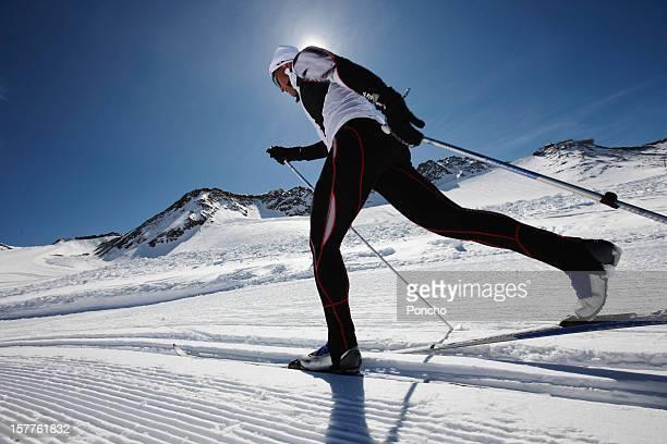 man doing cross-country skiing