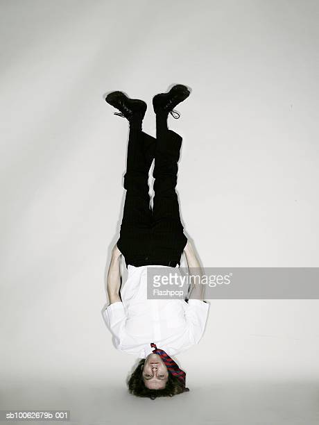 Man doing headstand