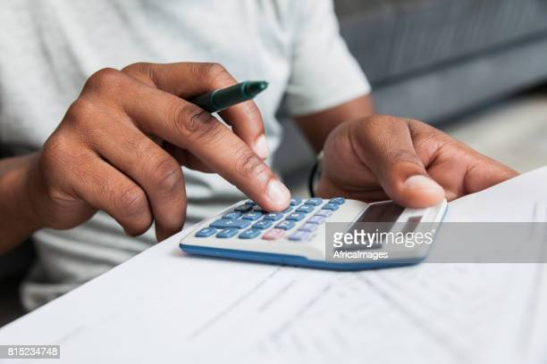 Man doing his calculations.