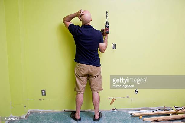 Man doing Home Improvements with a power drill