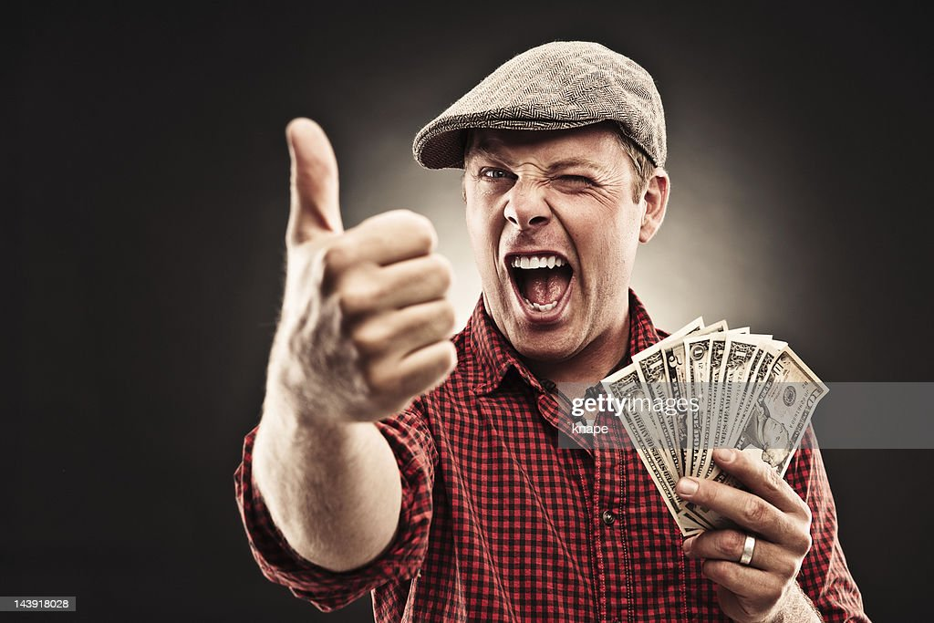 Man doing thumbs up : Stock Photo