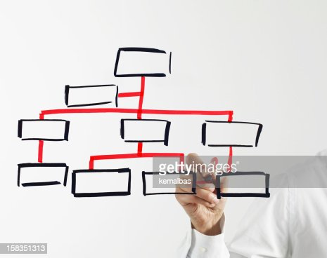 A Man Draws A Blank Organization Chart On Glass Stock Photo  Getty