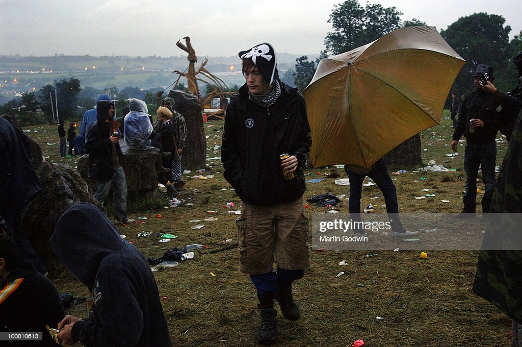 Man dressed as a pirate, in a daze, at Glastonbury Stone Circle at 5am, 22nd June 2007.