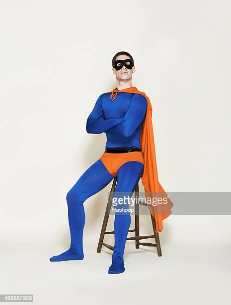Man dressed as a superhero