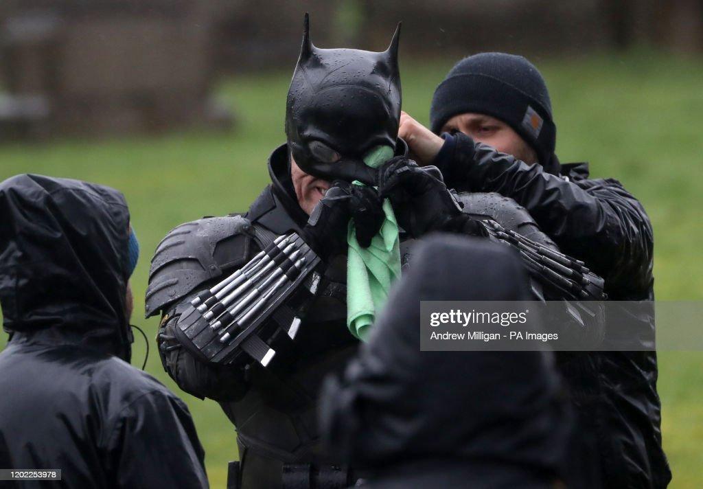 Batman filming - Glasgow : Nachrichtenfoto