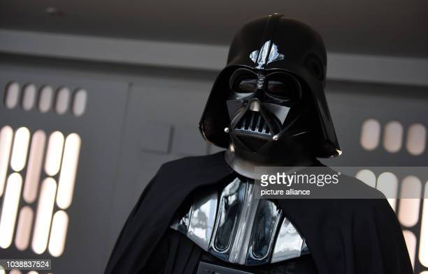 A man dressed as Darth Vader at the science fiction fan meeting 'FedCon' in Bonn Germany 13 May 2016 Until 16 May the Star Trek universe is the big...