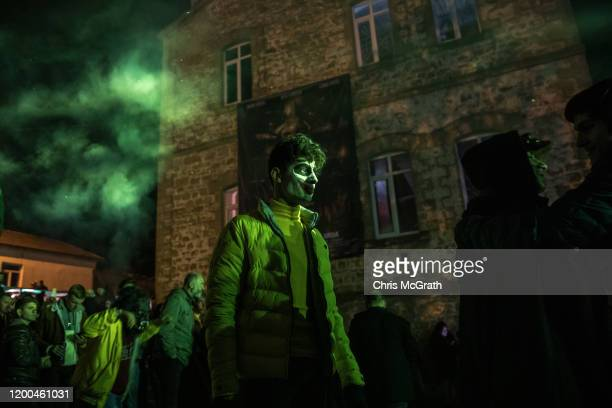 A man dressed as the Joker takes part in the Bocuk Festival at Camlica Village during the Bocuk Festival on January 18 2020 in Edirne Turkey Believed...