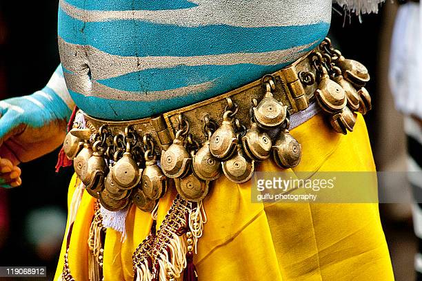 man dressed as tigers in pulikali - as stock pictures, royalty-free photos & images