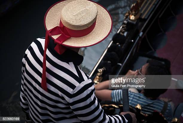 Man dressed in the typical gondolier costume