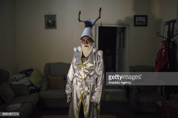 A man dressed up as the White Kosa who is chased and challenged to be kicked out of the house by the Green Kosa to prevent famine and unhappiness and...