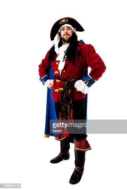 Man dressed up in a pirate costume