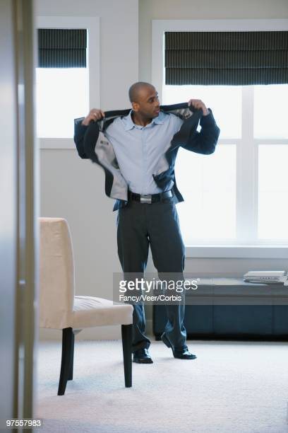 man dressing - blazer jacket stock photos and pictures