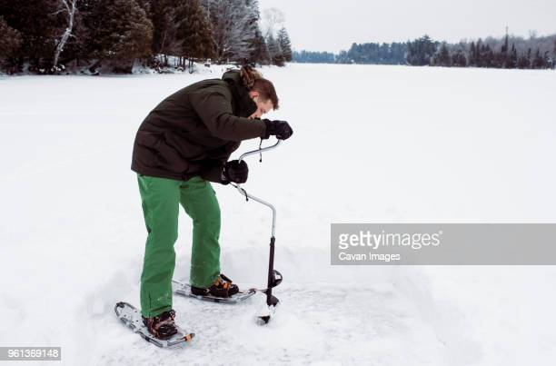 60 Top Ice Auger Pictures, Photos, & Images - Getty Images