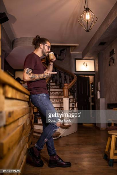 man drinking coffee - menswear stock pictures, royalty-free photos & images