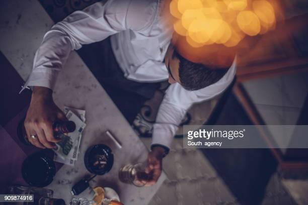 Man drinking in bar