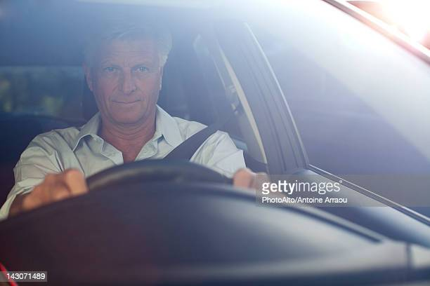 Man driving car, portrait