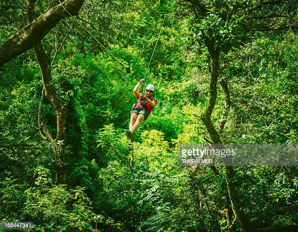 man during a Canopy Tour Costa Rica