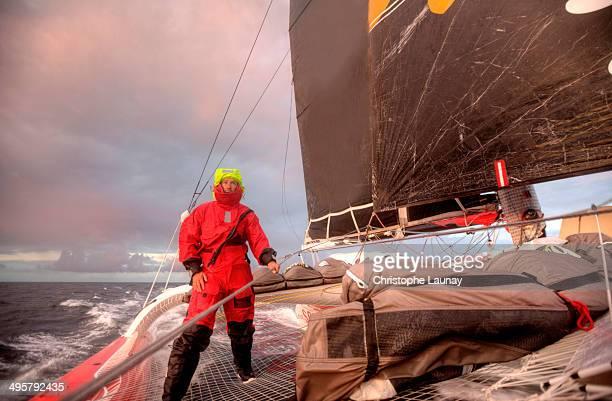 Man during sea trial between La Trinite Sur Mer to Brest.