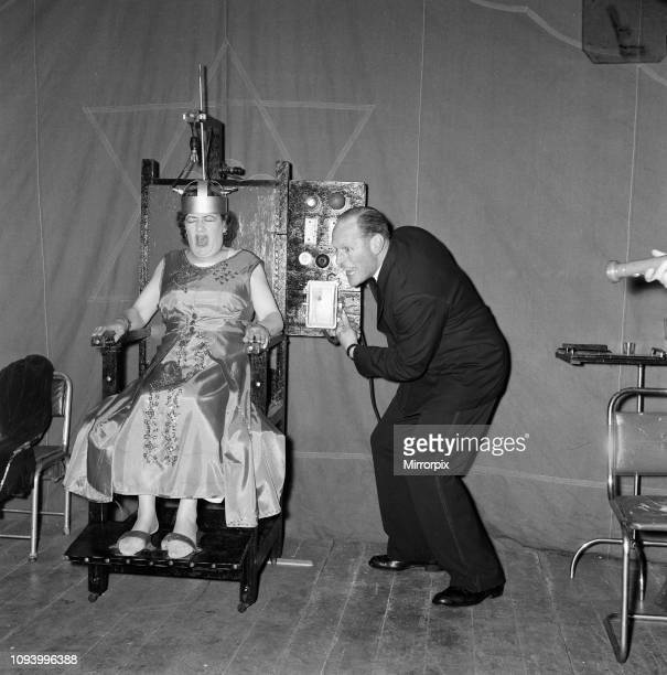 A man electrocuting his wife for a fairground sideshow Boston Lincolnshire 10th May 1957