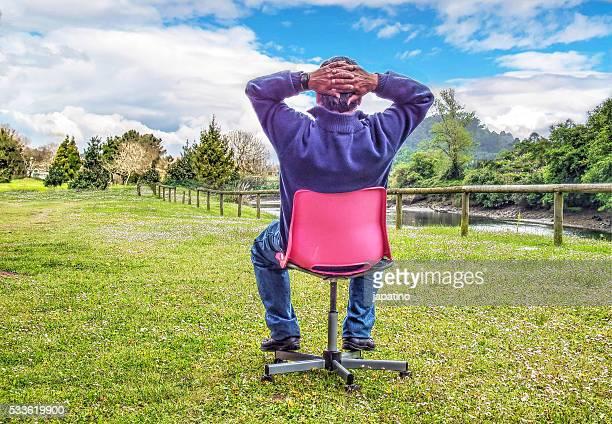 Man enjoying nature