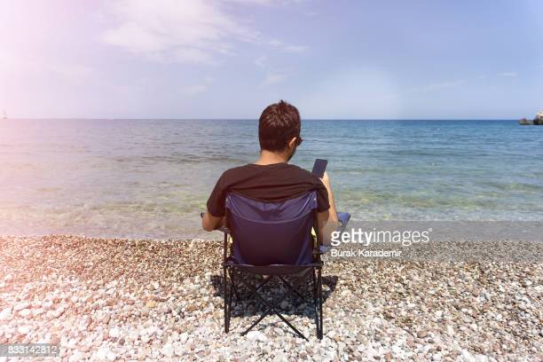 Man enjoying the beach