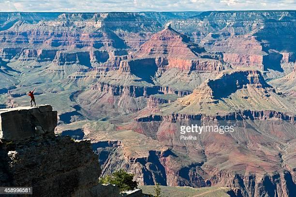 Man Enjoying View of Grand Canyon Arizona USA