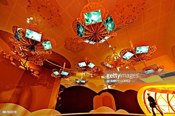 A man enters a section of the Australian pavilion at the site of the World expo 2010 in Shanghai on April 7 2010 Expo organisers expect up to 100...