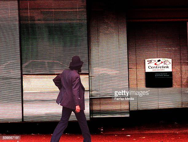 A man enters Centrelink on Crown St Darlinghurst Sydney 24 September 1998 AFR Picture by JESSICA HROMAS