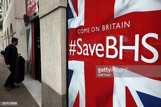 A man enters the headquarters of British Home Stores on June 2 2016 in London England The rescue bid for BHS has failed putting the 88 year old...