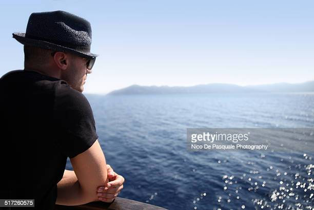 Man enyoing view