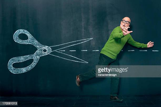 man escaping from cuts - runaway stock photos and pictures