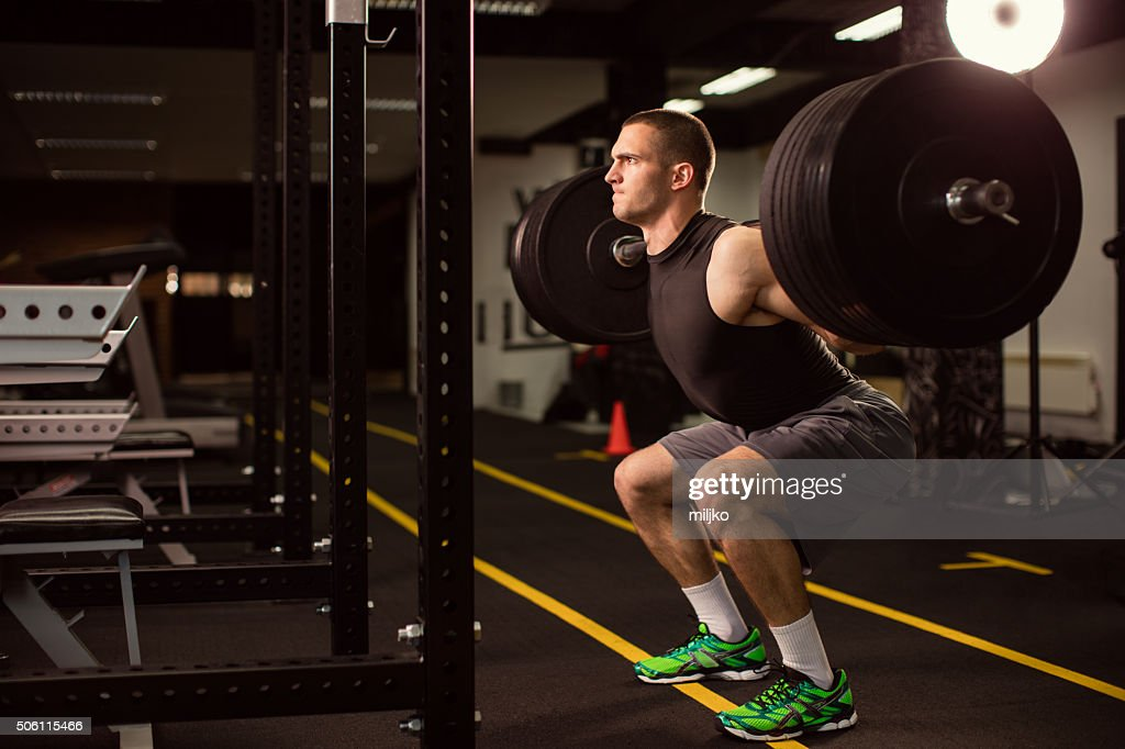 Man exercise at the gym : Stock Photo