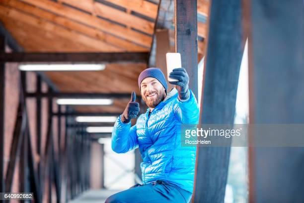Man exercising outdoors