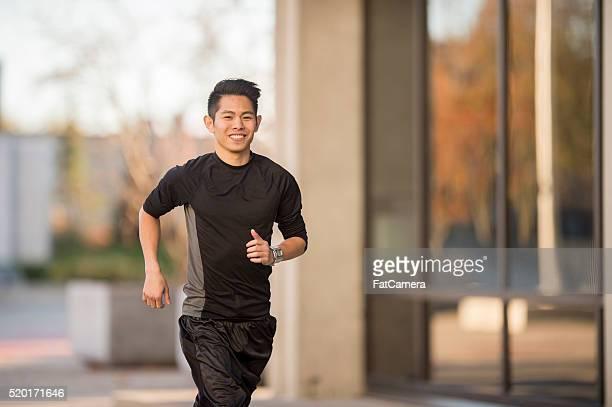 Man Exercising Outside