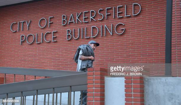 A man exits the Bakersfield police department on November 17 2017 in Bakersfield Kern County California 'In recent years Kern County Sheriff's...