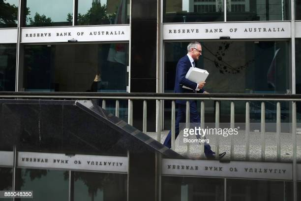 A man exits the Reserve Bank of Australia headquarters in Sydney Australia on Monday Dec 4 2017 Australia's central bank is on track for its longest...